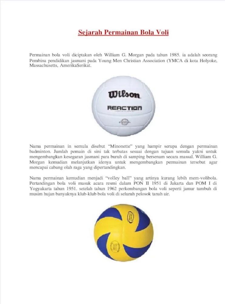 Permainan Bola Voli Diciptakan Pada Tahun : permainan, diciptakan, tahun, Sejarah, Permainan, Document]