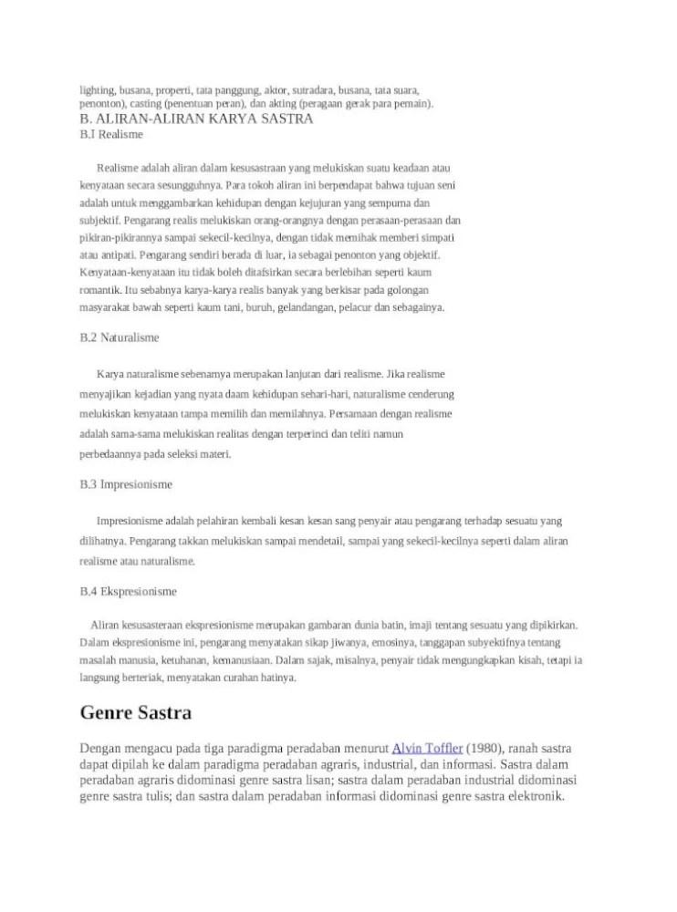 Aliran Aliran Sastra : aliran, sastra, Aliran, Sastra, [DOCX, Document]