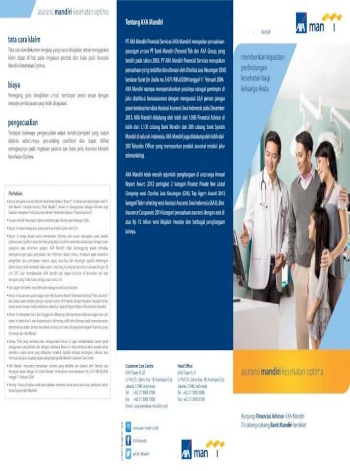 27 Tabel Premi Asuransi Kesehatan Axa Mandiri - Info Dana ...