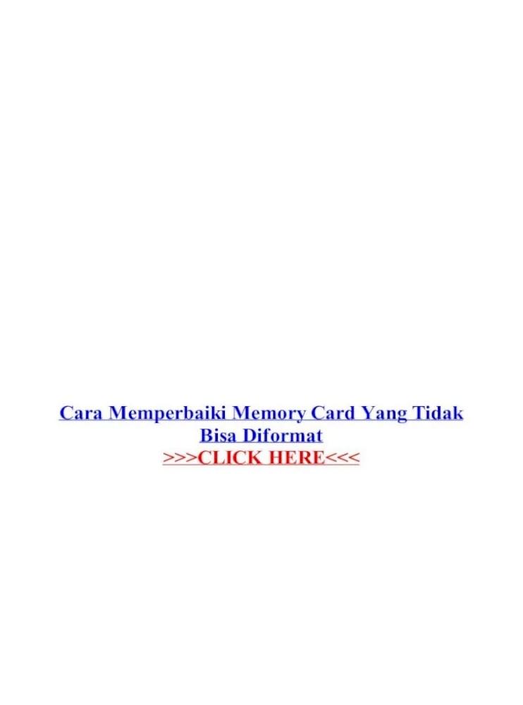 Cara Mengatasi Sd Card Tidak Bisa Diformat : mengatasi, tidak, diformat, Memperbaiki, Memory, Tidak, Diformat, Document]