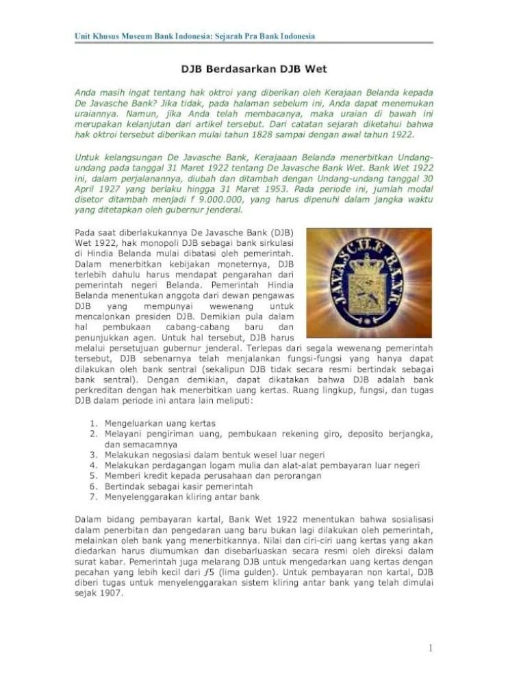 Tujuan dan Tugas Pokok Bank Indonesia sebagai Bank Sentral