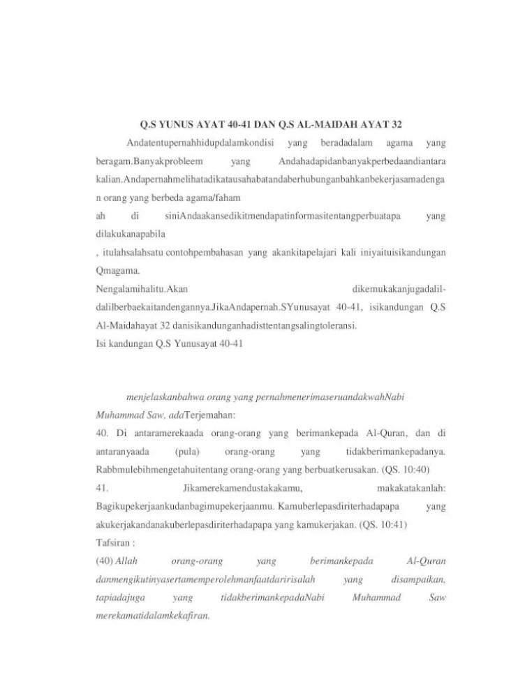 Arti Surat Yunus Ayat 40 : surat, yunus, Materi, Surat, Yunus, Maidah, Document]