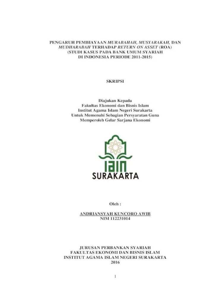 Skripsi Perbankan Syariah Kuantitatif Pdf : skripsi, perbankan, syariah, kuantitatif, Skripsi, Perbankan, Syariah, Dengan