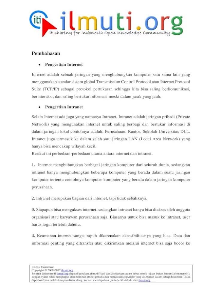 Apa Pengertian Internet Dan Intranet : pengertian, internet, intranet, Perbedaan, Internet, Intranet, .jaringan, Disebut, Sebagai, Jaringan, Publik, Document]