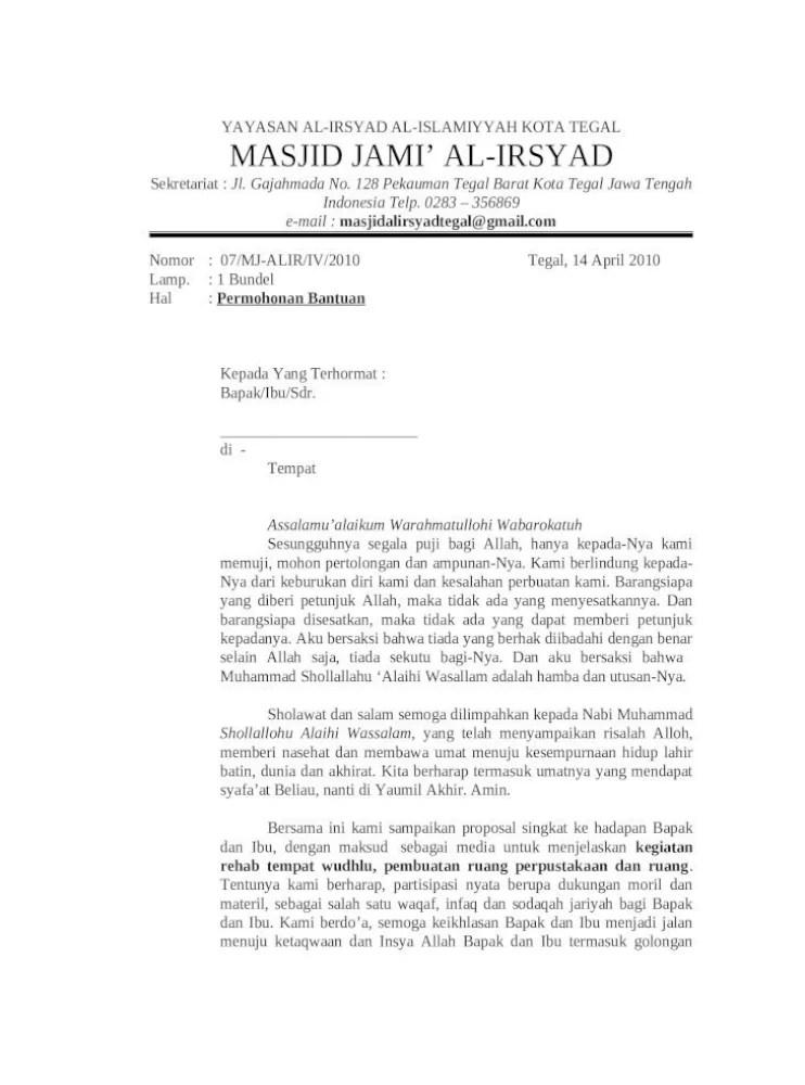Proposal Masjid Doc : proposal, masjid, Proposal, Rehab, Masjid, Document]