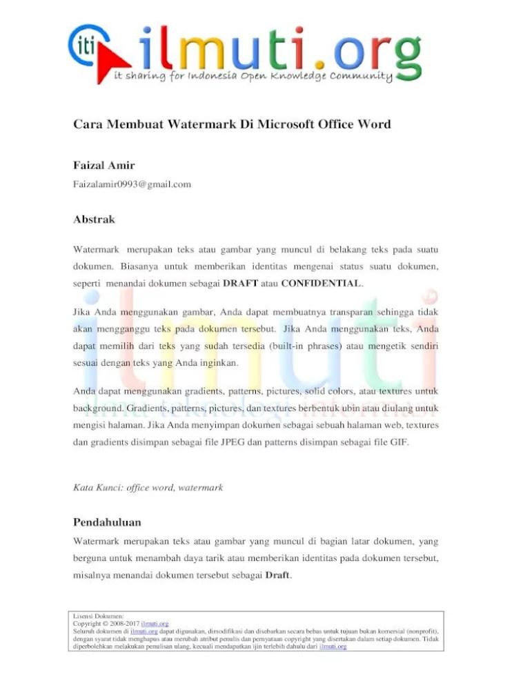 Cara Menghapus Watermark Di Pdf : menghapus, watermark, Membuat, Watermark, Microsoft, Office, Tanda, Panah., Custom, Document]