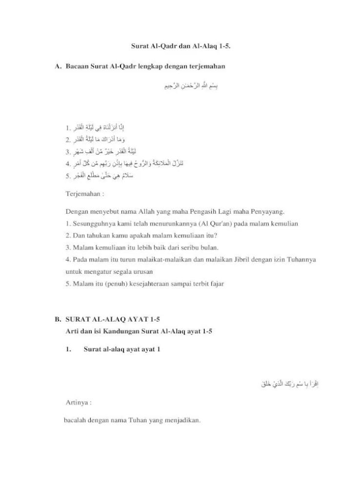 Surat Al Qadr Ayat 1-5 : surat, Kandungan, Surah, Insyirah