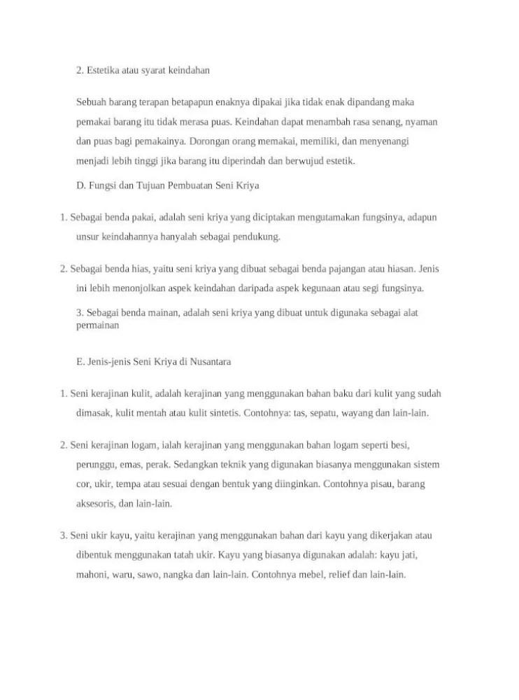 Cabang Cabang Seni Kriya : cabang, kriya, Kriya, Adalah, Cabang, Menekankan, Ketrampilan, Tangan, Tinggi, Dalam, Proses, Pengerjaannya, Document]