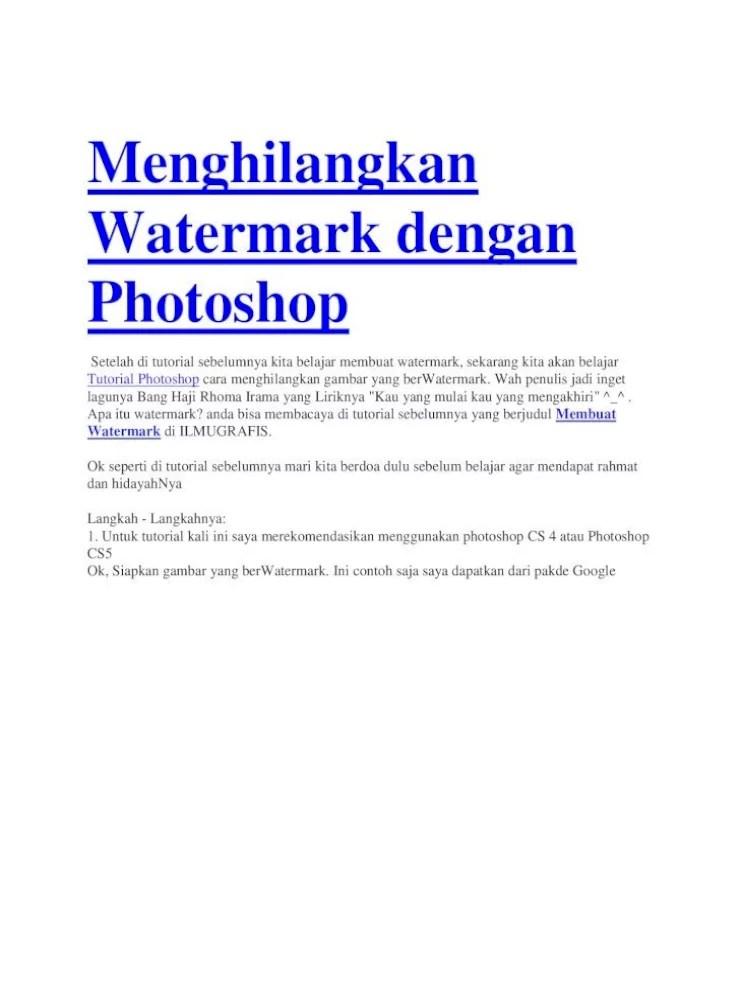 Cara Menghapus Watermark Di Pdf : menghapus, watermark, Menghilangkan, Watermark, Dengan, Photoshop, Document]