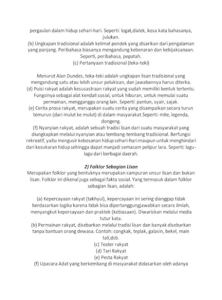 Contoh Folklor Lisan Bahasa Rakyat : contoh, folklor, lisan, bahasa, rakyat, Foklore, Sebagai, Kajian, Arkeologis, Document]