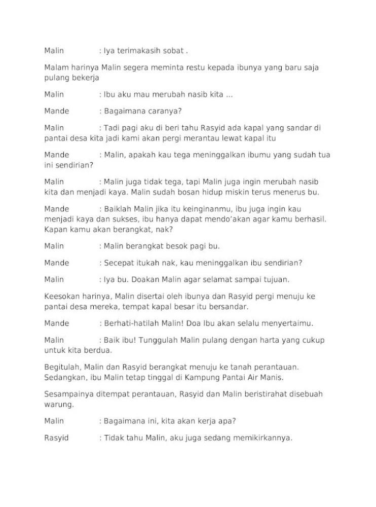 Teks Dialog Malin Kundang : dialog, malin, kundang, Naskah, Drama, Malin, Kundang, Untuk, Orang, Goreng