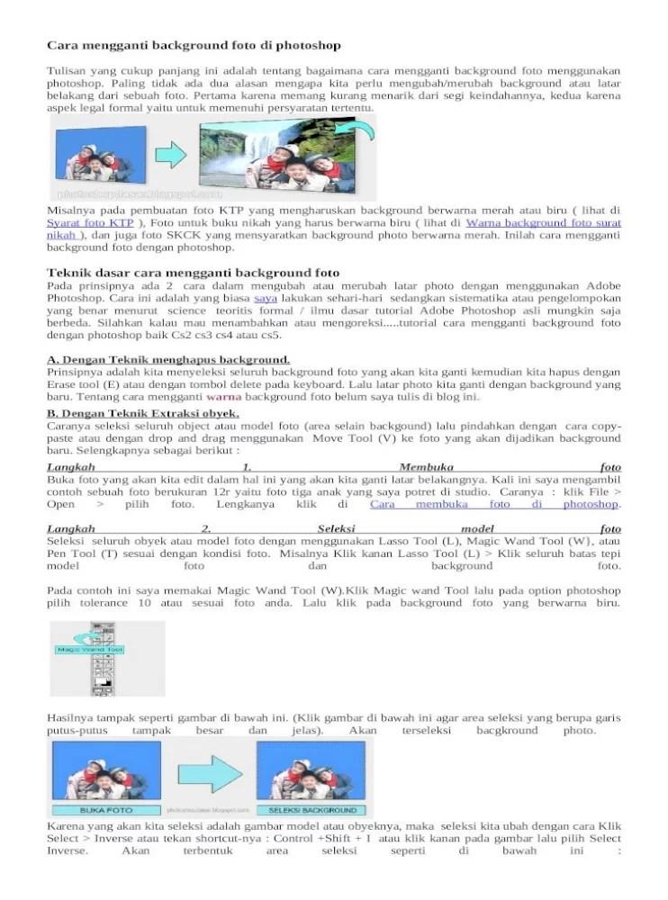 Cara Mengganti Background Di Photoshop Cs6 : mengganti, background, photoshop, Mengganti, Background, Photoshop, [DOCX, Document]