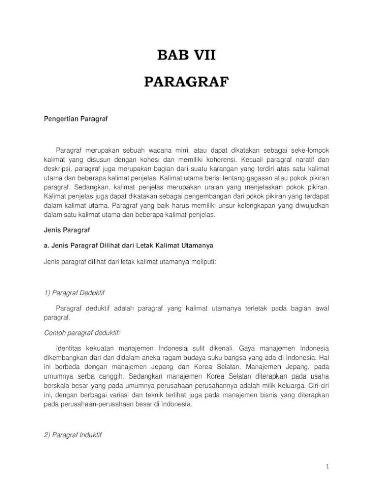Contoh Paragraf Paralelisme : contoh, paragraf, paralelisme, Paragraf, Document]