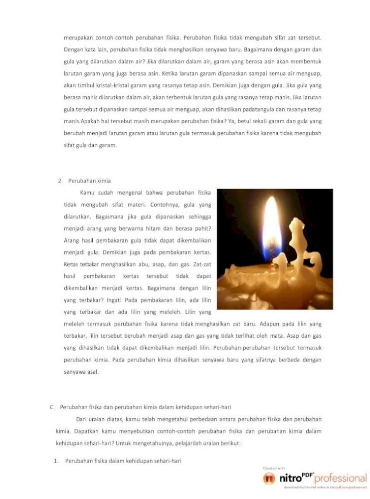 Lilin Terbakar Termasuk Perubahan : lilin, terbakar, termasuk, perubahan, Materifisika, Dengan, Garam, Pembuatan, Sirop,, Cuka,dan, Alkohol, Pembuatanvetsin/MSG, Tetes, Tebu., Document]