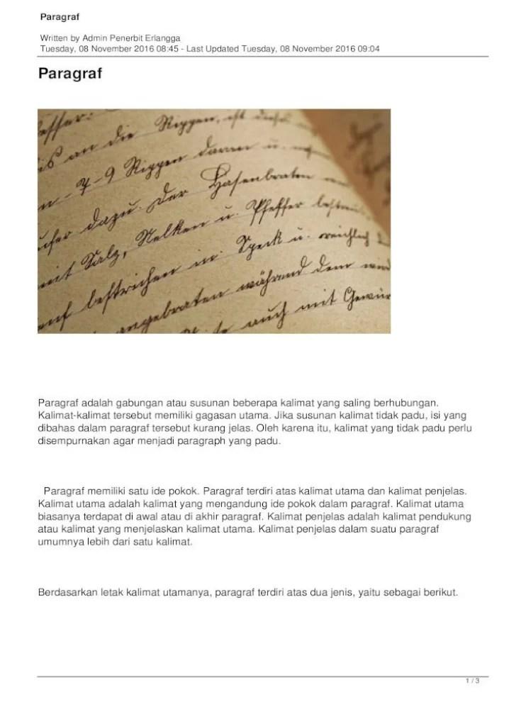 Tata Paragraf Bahasa Indonesia - Ilmu Pendidikan Bahasa