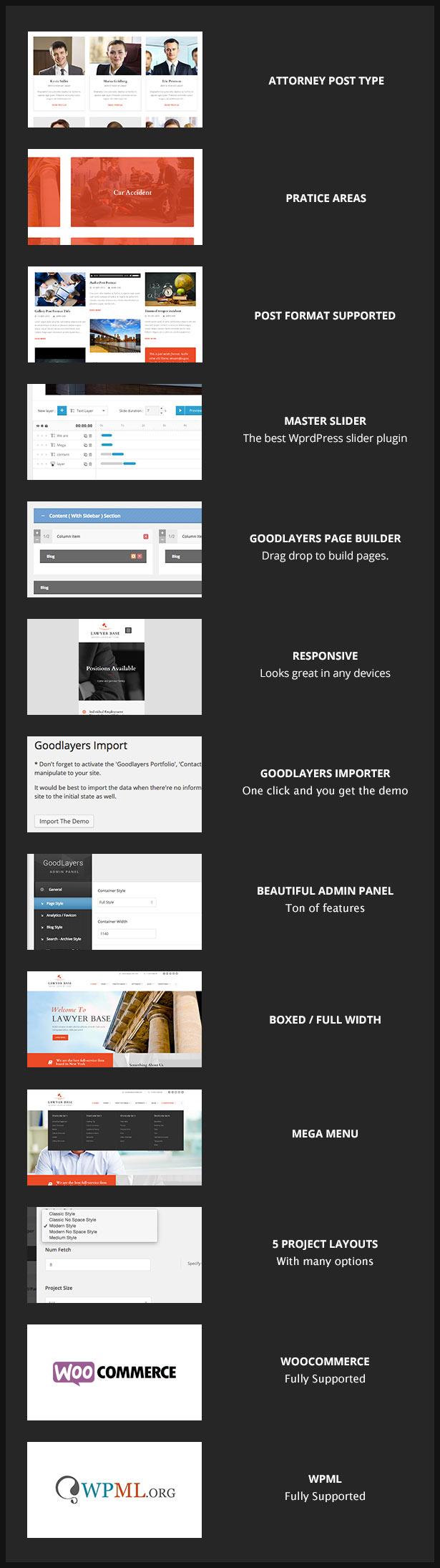 Lawyer Base - Attorney WordPress - 2