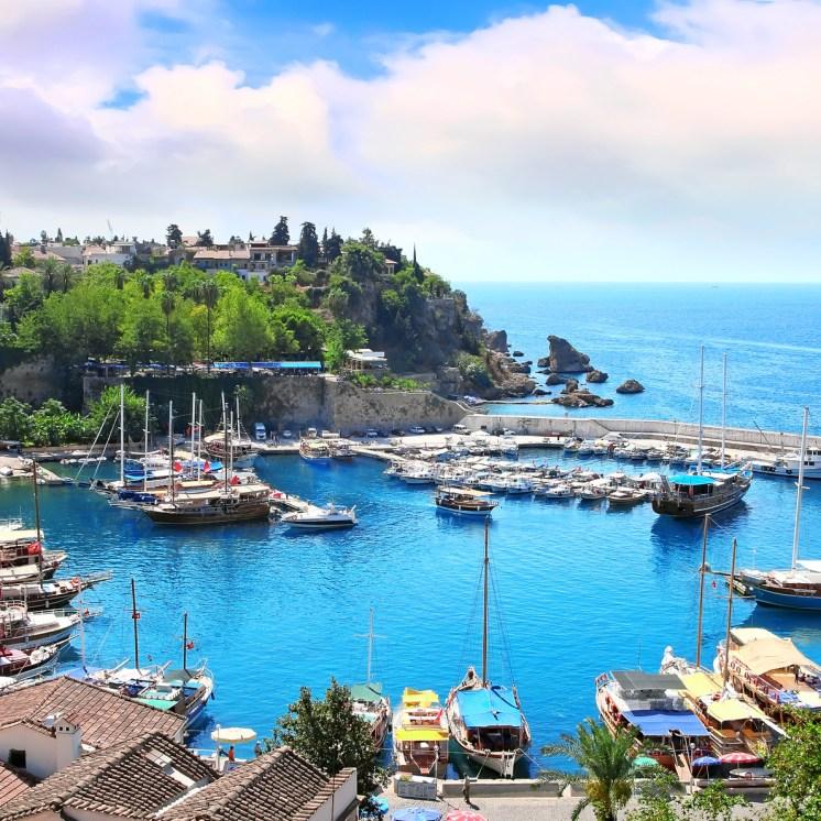 The Mediterranean gulf in Turkey
