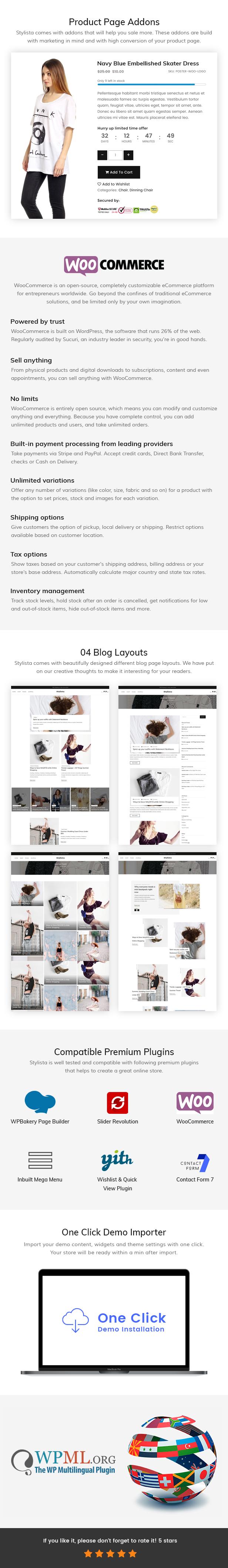 Stylista - Responsive Fashion WooCommerce WordPress Theme - 7