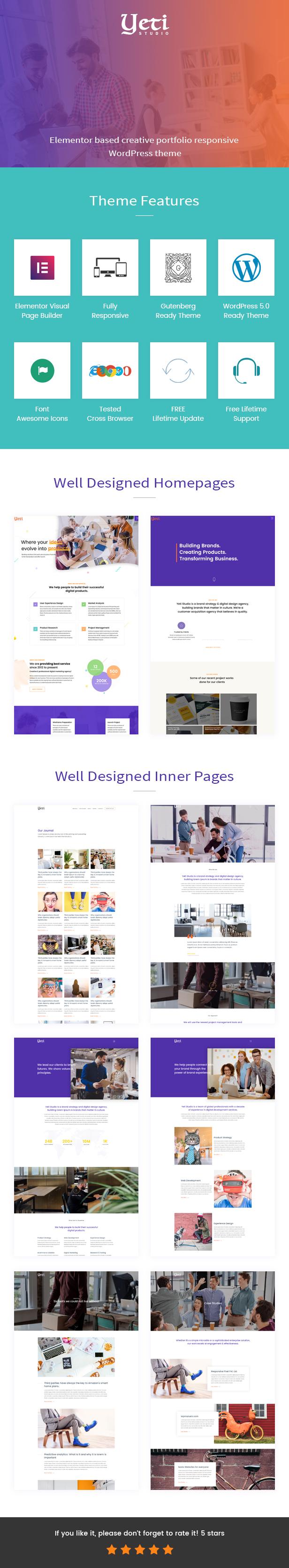 Yeti - Responsive WordPress Theme for Portfolio - 4