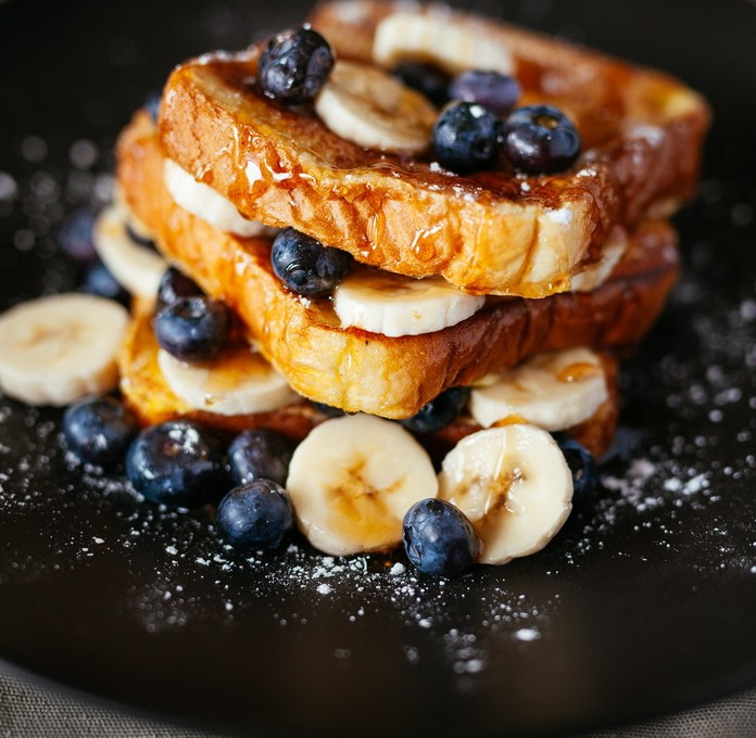 French Toast and Blueberries