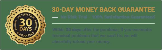 30日間のお金の背部
