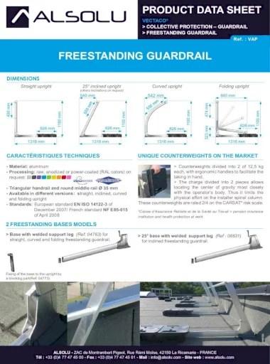 Nf En Iso 14122-3 : 14122-3, FREESTANDING, GUARDRAIL, E85-015, Plastic, Angles, Handrail, Aluminum