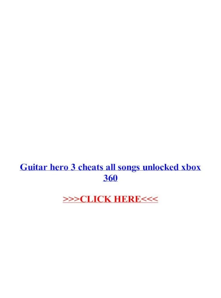 Guitar Hero 3 Unlock Everything : guitar, unlock, everything, Guitar, Cheats, Songs, Unlocked, .Guitar