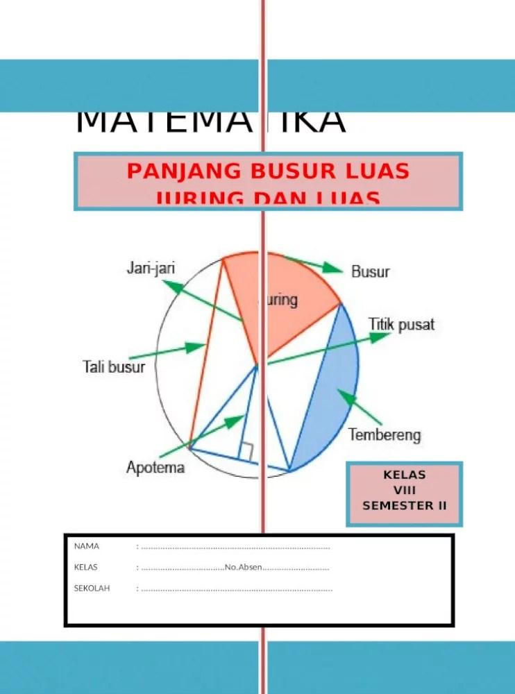 Luas Tembereng Lingkaran : tembereng, lingkaran, Contoh, Tembereng, Beserta, Jawabannya, Sekali