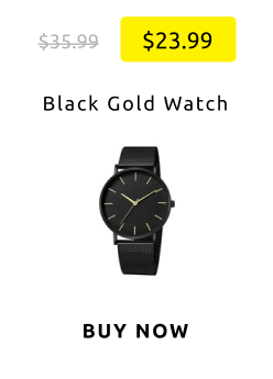 Black Gold Watch