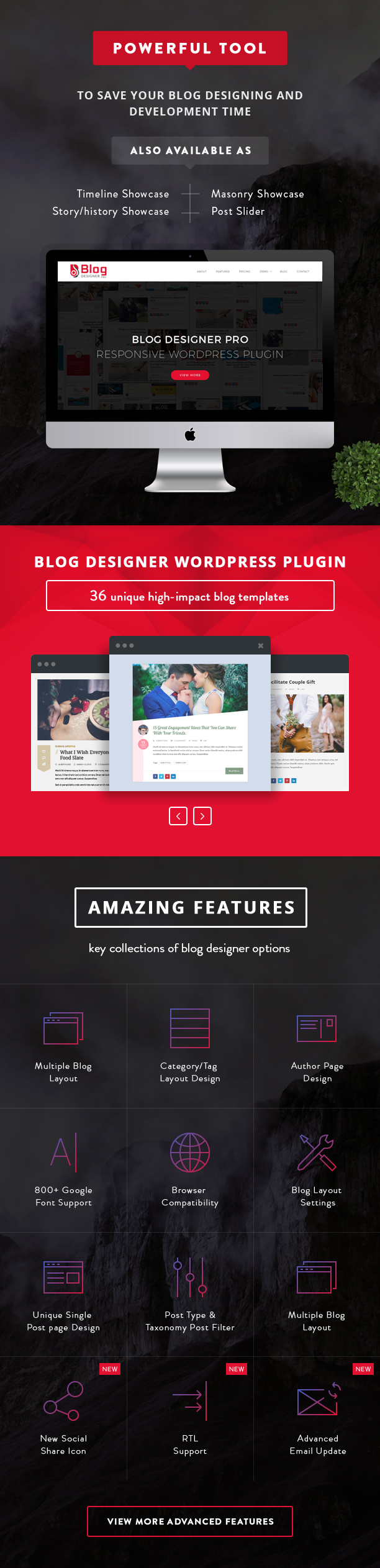 Blog Designer PRO Features