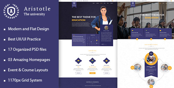 Aristotle - Professional PSD Template for Education