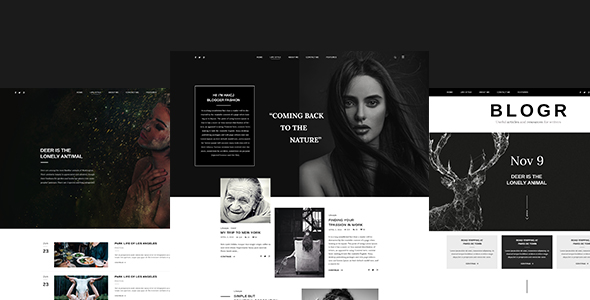 BLOGR? PSD template for special BLOGGERS