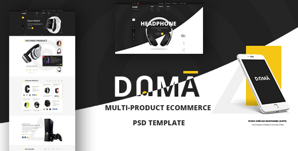 DAMA? Modern PSD Template for Multi-Product eCommerce Webshop