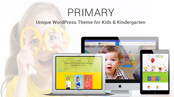 Primary - Kids and School WordPress Theme | Educational materials Design WP