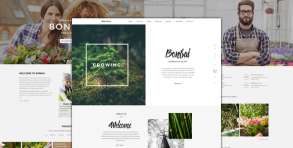 Bonsai - PSD Template for Landscapers & Gardeners