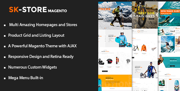 SK Store? Unique Magento theme for sports shops