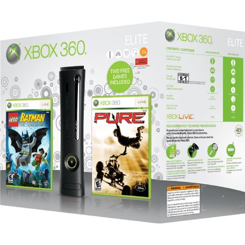 Xbox 360 Elite Winter 2009 Lego Batman Pure Bundle