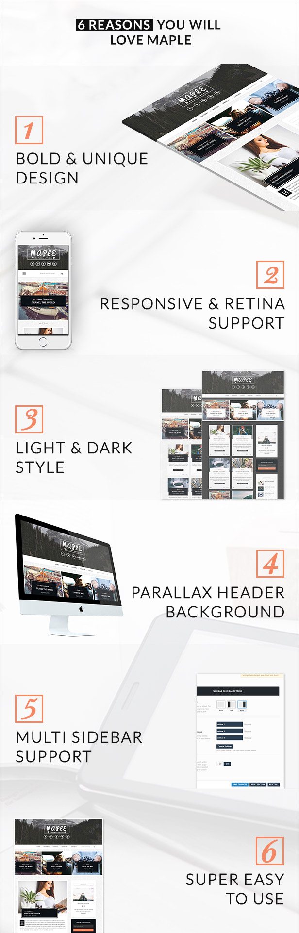 Maple - Responsive WordPress Blog Theme - 5