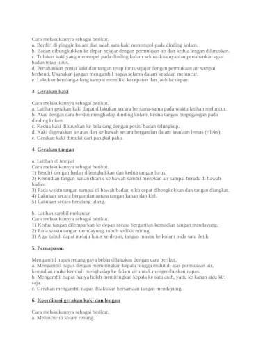 Posisi Tubuh Renang Gaya Bebas : posisi, tubuh, renang, bebas, Pengertian, Teknik, Dasar, Renang, Bebas, [DOCX, Document]