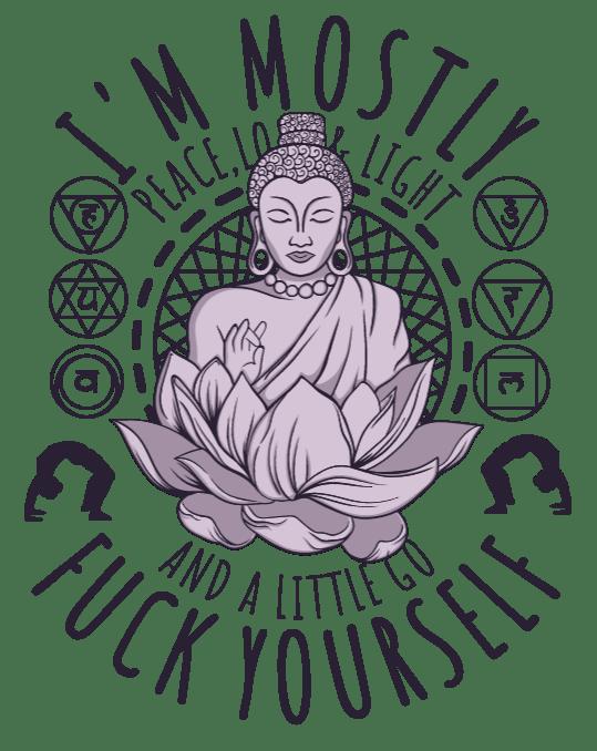 Download Peace love and light - uDesign Demo / T-shirt Design Software