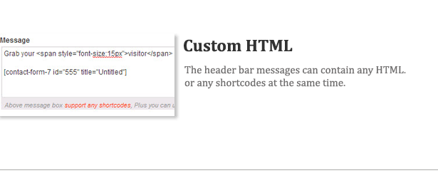 Wp Header Bar - WordPress Notification Bar - 13
