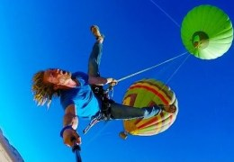 Epic Hot Air Balloon Rope Swing