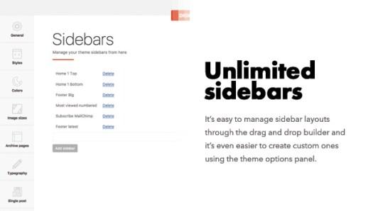 Diginex has unlimited sidebars