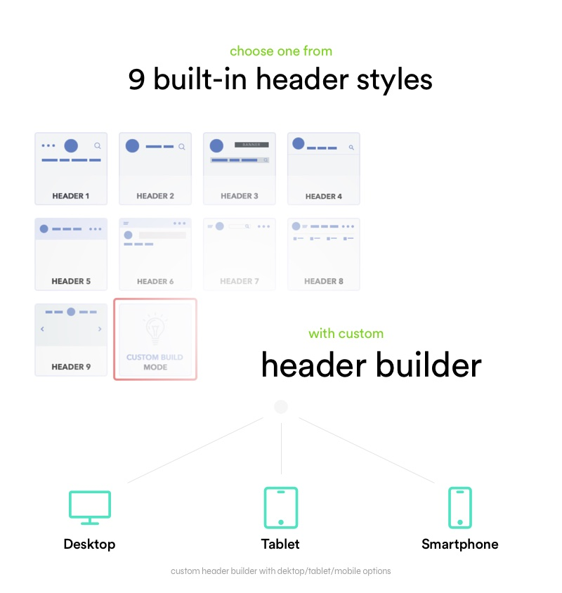 9 predefined headers