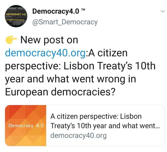 "Citizen K writes about #LisbonTreaty and democracy on @EURACTIV 's blogactiv. ""A citizen perspective: Lisbon Treaty's 10th year and what went wrong in European democracies?"" #futureofeurope #politics #europe #eu #democracy #brussels #change #vision #LisbonTreaty"