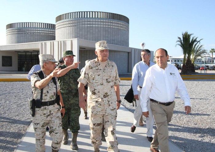 El General Salvador Cienfuegos, junto al Gobernador  Rubén Moreira, desarrolló gira de trabajo por el Estado