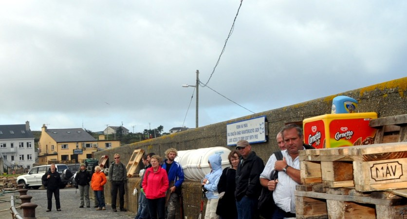 Piers - Cleggan queue for the ferry