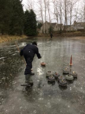 Snowjane curlin in icy Aberdeen by Bob Dow