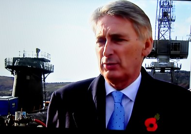Base - Defence Secretary Philip Hammond at Faslane on Monday