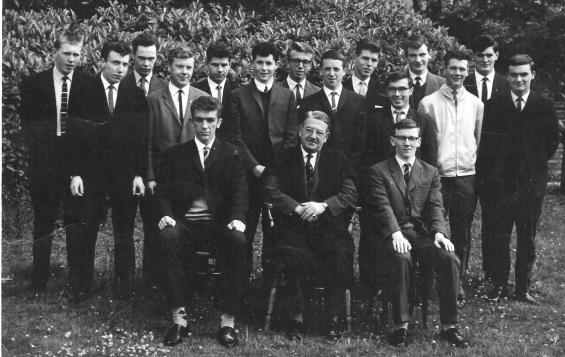 Hood Class_of_63_at St Patrick's High School with Tom Monaghan 2